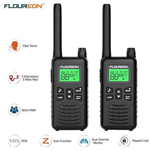 Zoom IMG-1 floureon 16ch ricetrasmittente 2x walkie