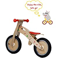 Labebe Bicicleta Pedales Niño, Indio Bicicleta Equilibrio Madera con Asiento Ajustable, para Niños de 18 Meses a 3 Años, Bicicleta Pedales Niña/Bicicleta Pedales Madera/Bicicleta Pedales Bebé