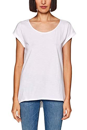 ESPRIT Damen 999EE1K801 T-Shirt, Weiß (White 100), X-Small (Herstellergröße: XS) -