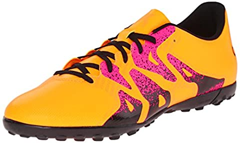 Adidas Performance X 15.4 Turf Soccer Cleat,gold/black/shock Pink,12 M Us