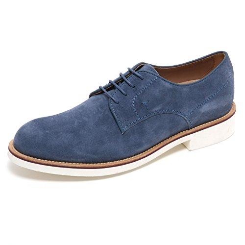 B6054 scarpa classica uomo TOD'S DERBY scarpe blu carta da zucchero shoe man Carta da zucchero