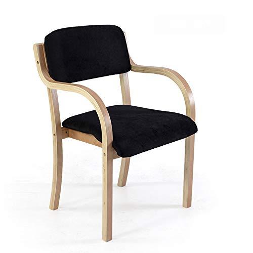 Chaise minimaliste moderne de restaurant en bois incurvé de maison Chaise de bureau arrière en bois plein nordique 8 couleurs facultative (Couleur : G)