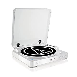 Audio-Technica AT-LP60WHBTU Fully Automatic Wireless Belt-Drive Stereo Turntable, White