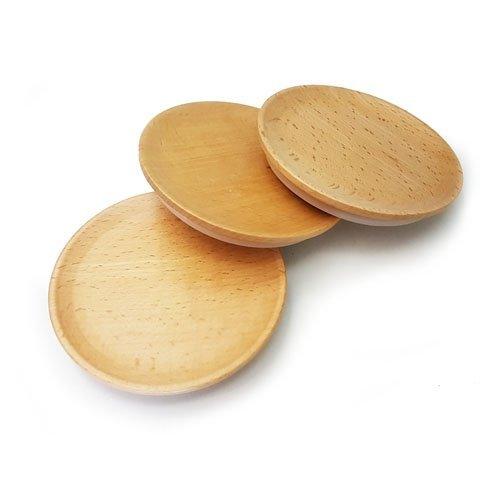 3x WECK Medium Holz Deckel _ lovely Buche Deckel. Größe Medium = 80mm (31/20,3cm). Besondere Kauf. An Passform Weckgläser nur.