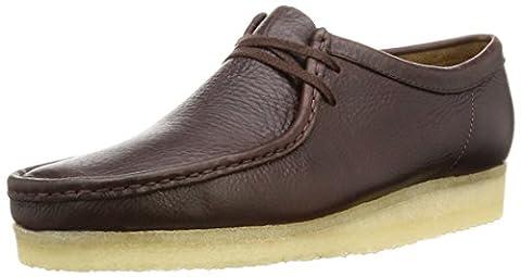 Clarks Originals Wallabee, Mens Biker Boots, Brown (Brown Leather), 9 UK (43 EU)