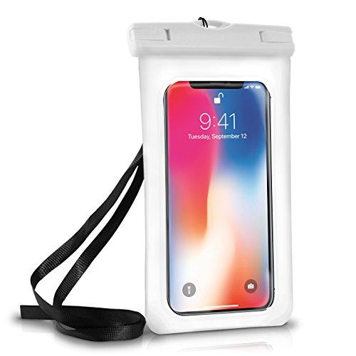 Wasserdichte Hülle iPhone Full Cover in Weiß OneFlow 360° Unterwasser-Gehäuse Touch Schutzhülle Water-Proof Handy-Hülle für Apple iPhone X 8 7 7Plus/8Plus 6S 6 Plus 5 5S Case - 6 Handy Iphone Cover Wasserdichte