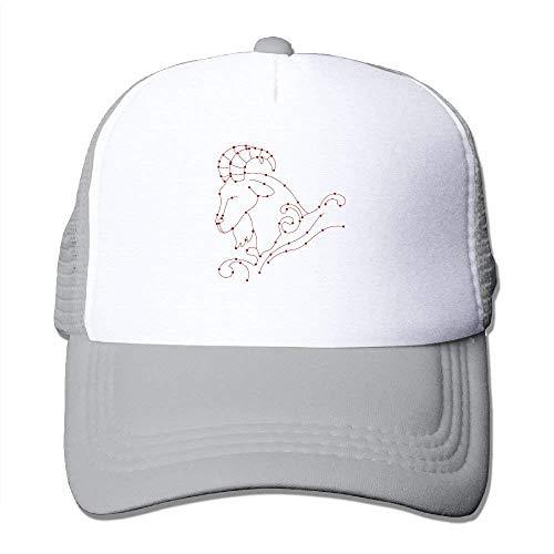 dfegyfr Sternbild Sternzeichen Widder Einstellbare Sport Mesh Baseball Trucker Caps Sun Hüte ()