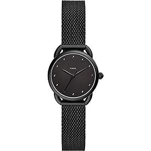 Fossil Damen Analog Quarz Uhr mit Edelstahl Armband ES4489