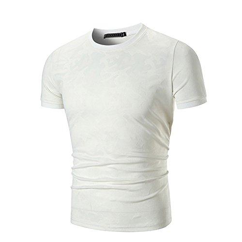 Tops para Hombre de Camuflaje Remera de Impresión Shirts de Tops de tee Ropa  de Delgada 9f76336c8250