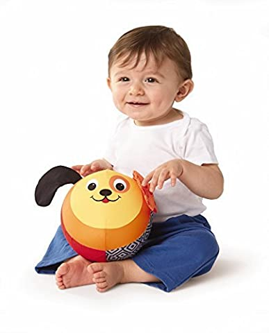 Earlyears Inflate N' Play Puppy - Machine Washable Fabric Covered Ball with Jingle Sounds & Crinkle Ears Baby Toy by Earlyears