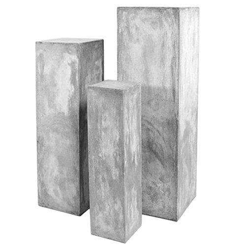 Preisvergleich Produktbild Werner Voß · Säule Zement-Optik ' Fibreclay ' 120cm · grau