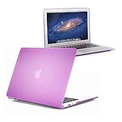 2010kharido Matte Hard Rubberised Case for MacBook 12 With Retina Display See Thru Purple