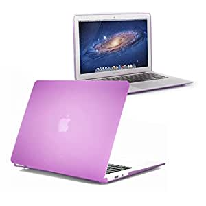 """DNG Matte Hard Rubberised Case for MacBook Air 13.3""""-Top and Bottom Case - See Thru Purple"""