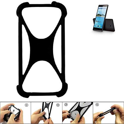 K-S-Trade Handyhülle für Hisense Sero 5 Schutz Hülle Silikon Bumper Cover Case Silikoncase TPU Softcase Schutzhülle Smartphone Stoßschutz, schwarz (1x)