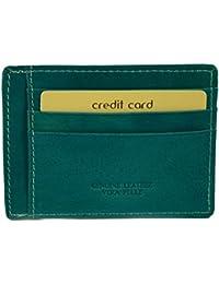Echtes Leder Kartenhalter 9 Fächer Farbe Türkis - Italienische Lederwaren - Zubehör