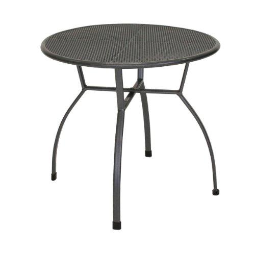 greemotion Tisch Toulouse eisengrau, runder Gartentisch aus kunststoffummanteltem Stahl, Tisch mit...