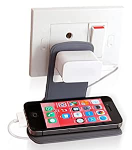 Kanvas Cases Mobile Charging Stand Wall Holder , Simple, Useful & Suitable for almost all Mobile Phones-Pack Of 2
