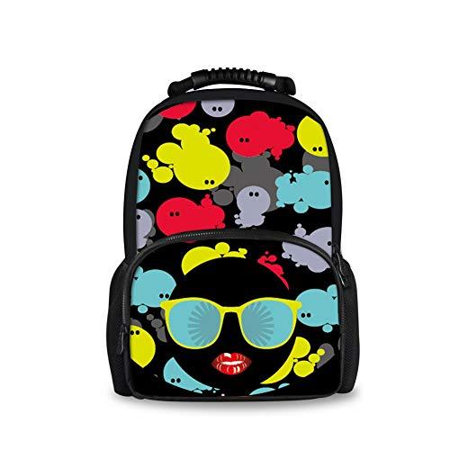 Mode Teenager Casual School Book Bag Frauen Reisen Filz Rucksack (Color : Emoji Pattern-3, Size : -)