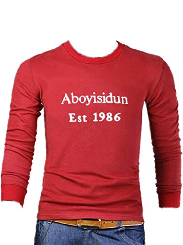 BOMOVO Herren Funktionsunterwäsch Slim O-Neck T-Shirt Rot