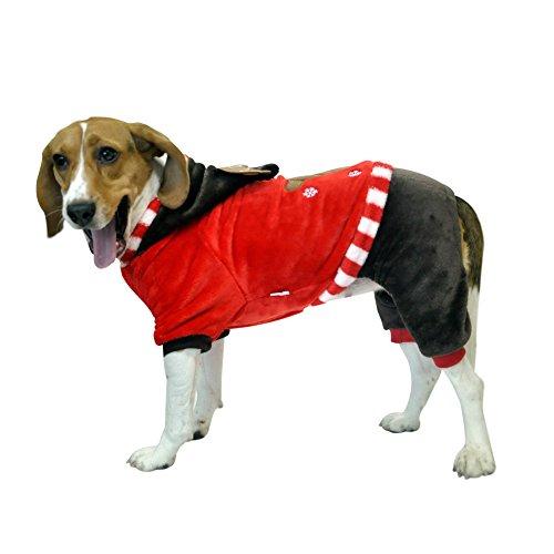 Costume-Manteau-Vtement-Hoodie--Capuche-Dguisement-en-Corail-Cachemire-Design-de-Quatre-Pattes-pour-Chien-Chat-en-Hiver