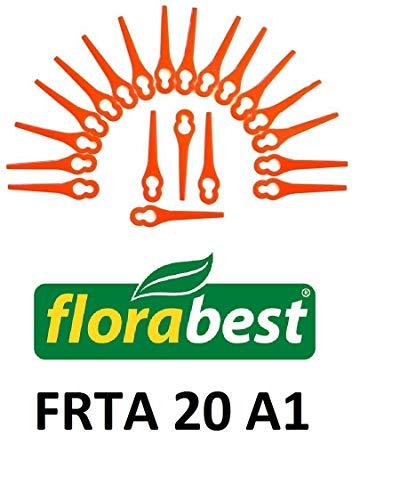 20 lames de rechange/planchette à découper/couteau en plastique pour votre Florabest FRTA 20 A1 Coupe-gazon à batterie IAN 282232.