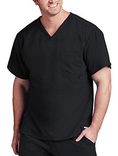 Barco Grey's Anatomy Herren Top mit V-Ausschnitt, 2 Taschen - Schwarz - X-Klein -