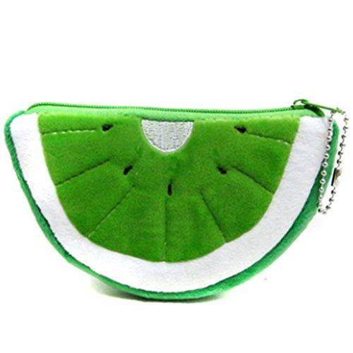 Sungpunet bella borsa portamonete a forma di kiwi portafoglio portamatite in peluche con cerniera borsa portamonete grande per bambini fornitura organizer 1 pezzo