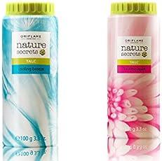 Oriflame Nature Secrets Talc - Floral Bouquet & Cooling Breeze (Pack of 2)