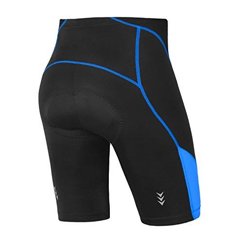 INBIKE Shorts Cyclisme Vélo Bicyclette Cuissard Pantacourt Short Cycliste 3D Rembourré pour Homme (Bleu, XXXL)