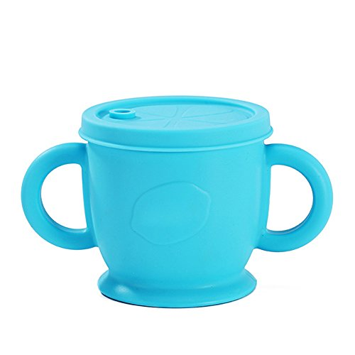 Pro Baby Drink Cup Silikon auslaufsicher Cup Kinder Training Stroh Cup Baby Silikon Geschirr (Munchkin-cup-stroh)