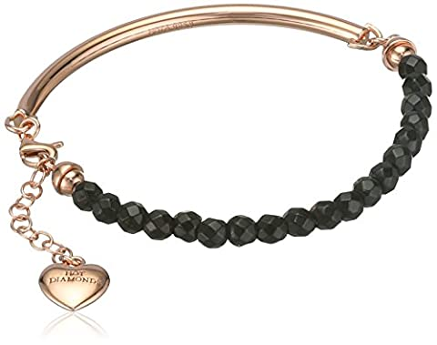 Hot Diamonds Black Onyx Festival Rose Gold Plated Bracelet of 19cm