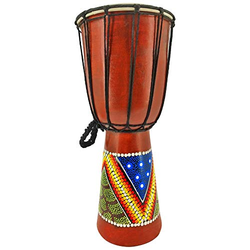 Djembe Trommel Bongo Drum Handtrommel Buschtrommel Percussion Kinder Fair Trade 40cm