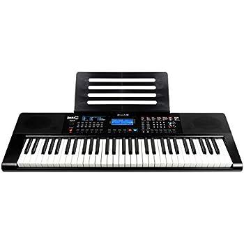 rockjam rj461ax 61 key alexa portable digital piano keyboard with music stand power supply. Black Bedroom Furniture Sets. Home Design Ideas