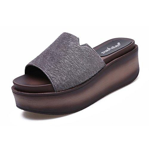 TONGS SANDALES 7cm Femmes pantalons hauts en été Sandales en bas épais flip flop de mode avec 6 sortes de couleurs élégant #6