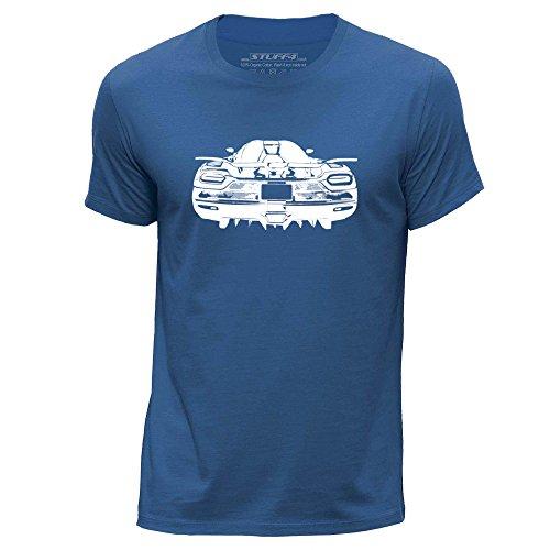 stuff4-hommes-petit-s-bleu-royal-col-rond-t-shirt-stencil-art-de-voiture-k-agera
