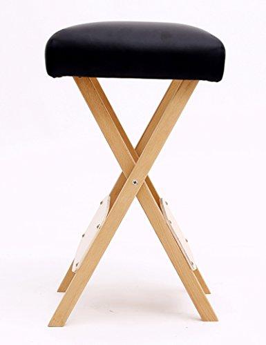 Stil-massage-stuhl (CAICOLORFUL Moderne Möbel Klappstuhl aus massiver Holzbuche Bewegliche Hockerschwammverdickung Sofa Hocker Beauty-Techniker Hocker Massage Stuhl Platz Hocker Sofa Hocker (Farbe wahlweise freigestellt) ( Farbe : Schwarz ))