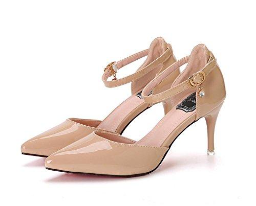 pengweiI sandali femminili respirabili adattano ad alti talloni dell'inarcamento di Baotou di estate con 1