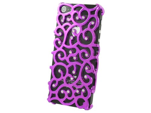 Advanced Accessories Allure Diamant Schutzhülle für iPhone 5/5S, Violett violett