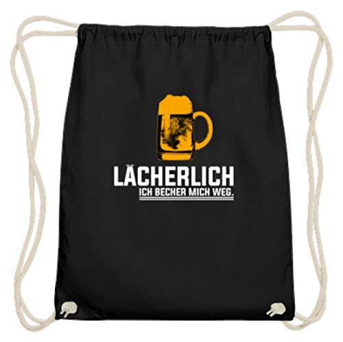 Lächerlich! Ich Becher Mich Weg! Party Gruppen Bier - Schlichtes Und Witziges Design - Baumwoll Gymsac