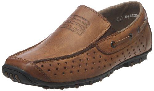 Rieker 08969/25, Chaussures bateau homme Marron