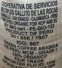 raw, organic green coffee beans fair trade Arabica Peruvian home roasting or blending 1kg by Allaways Coffee