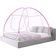 Cutieco Foldable King Size Portable Mosquito Net for Double Bed (Pink)