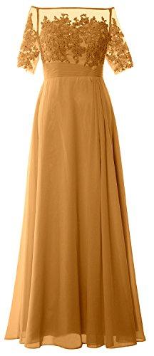 MACloth -  Vestito  - lungo - Donna giallo 56
