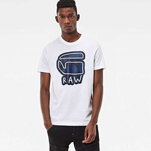 T- Shirt G-Star Trelber Bianco Bianco
