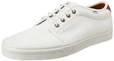 ce30b8b794 Vans Men s 159 Vulcanized T L White Canvas Sneakers - 8 UK  Buy ...