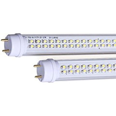 LineteckLED® - E01.005.25N Tubo neon LED 120cm 25W con copertura trasparente attacco T8 luce fredda (6500K) 2500 lumen fascio luminoso 120° Sostituzione tubo neon ad incandescenza - Non necessita di Starter e Reattore - Ampio range di voltaggio per proteggerlo dagli sbalzi di corrente - Alta luminosità