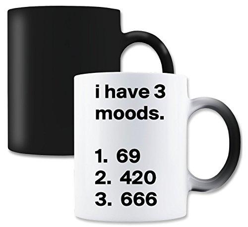 LukeTee I Have 3 Moods Magische Tee-Kaffeetasse