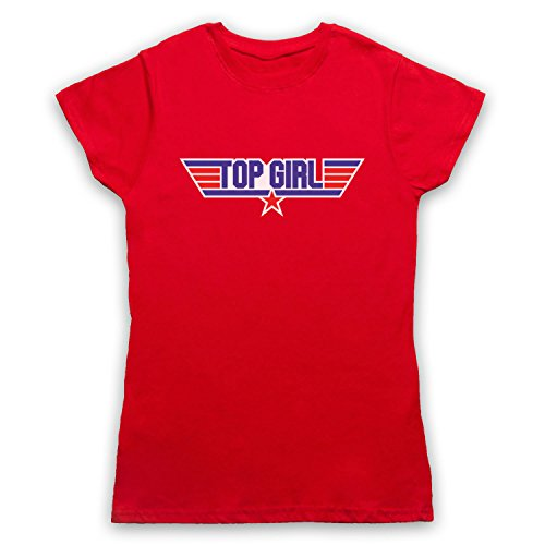 Top Girl Parody Logo Damen T-Shirt Rot