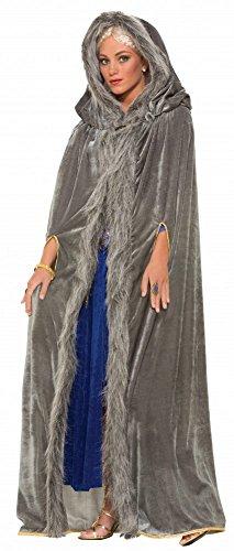 amt-Umhang mit Kapuze für Damen-Kostüm GoT WoW LARP Mantel Cape ()