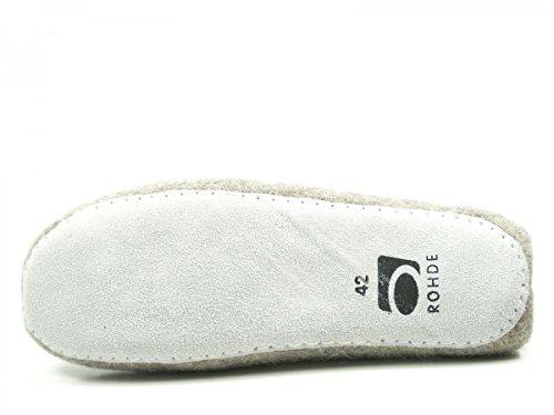Rohde Nepal 7991 Schuhe Herren Pantoffeln Hausschuhe Filz Grau